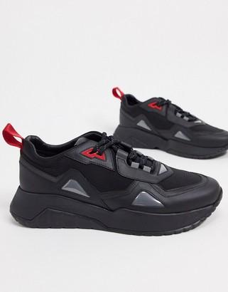 HUGO BOSS Atom running style trainers in black
