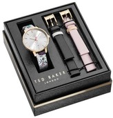 Ted Baker Women's Kate Leather Strap Watch Set, 38Mm