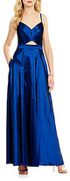 Laundry by Shelli Segal Sweetheart Neck Sleeveless Cut-Out Stretch Taffeta Ballgown
