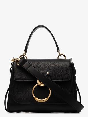 Chloé black Tess Day mini leather top handle bag