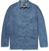 Chimala Distressed Washed-Denim Chore Jacket