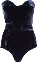 Yuliya Magdych Velvet Bustier And Shorts