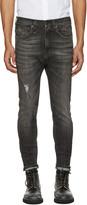 R 13 Black Drop Jeans