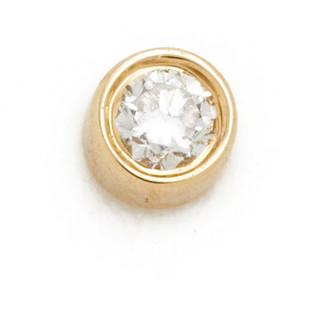 Ef Collection Diamond Bezel Single Stud Earring