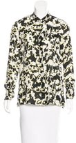 Proenza Schouler Silk Abstract Print Top w/ Tags