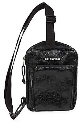 Balenciaga Men's Arena Leather Crossbody Sling Bag