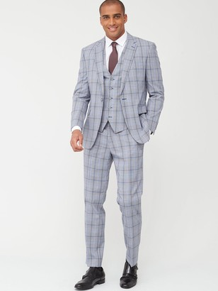 Skopes Tailored Stark Jacket - Grey/Blue Check