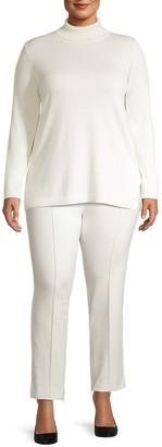 Joan Vass, Plus Size Knit Turtleneck Tunic