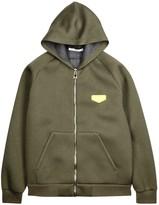 Givenchy Olive Hooded Neoprene Sweatshirt