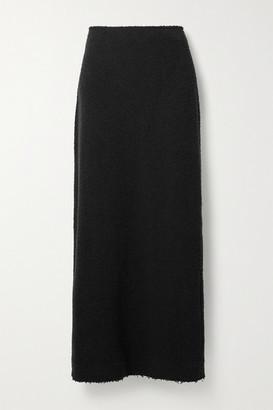 The Row Anita Boucle Maxi Skirt - Black