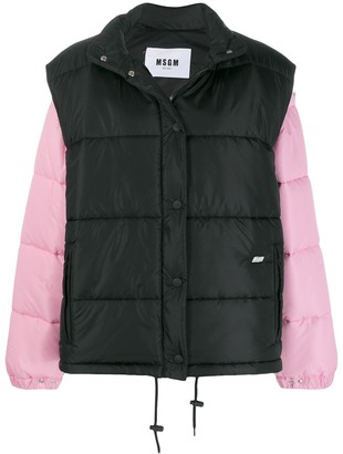 MSGM two-in-one padded jacket