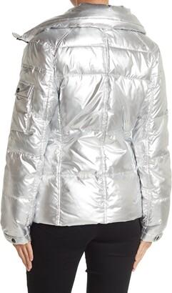 S13 Kylie Metallic Down Puffer Coat