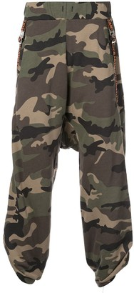 Mostly Heard Rarely Seen Loose Fit Camouflage Track Pants