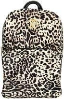Roberto Cavalli Leopard Printed Nylon Canvas Backpack