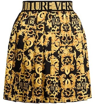 Versace Jeans Couture Logo Baroque Mini Skirt