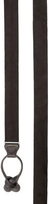 Tie Bar Solid Satin Black Suspender