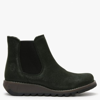 Fly London Salv Londra Suede Wedge Chelsea Boots