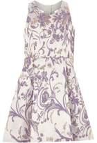 River Island Girls jacquard lilac prom dress