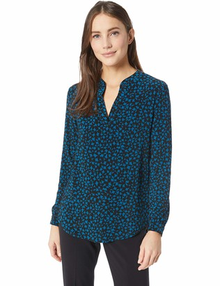 Anne Klein Women's Printed Split Neck Tunic