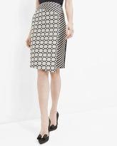 Ted Baker Stripe and circle asymmetric skirt