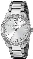 Titan Women's 9955SM01 Analog Display Quartz Silver Watch