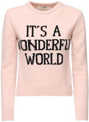 Alberta Ferretti Slim Cashmere Blend Knit Sweater