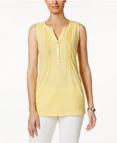 Charter Club Pleated Henley Top, Only at Macy's