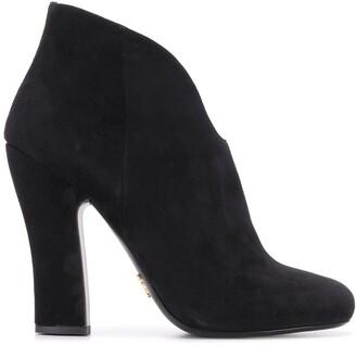 Prada High-Heeled Ankle Boots