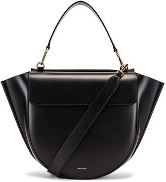 Wandler Big Hortensia Leather Bag in Black | FWRD
