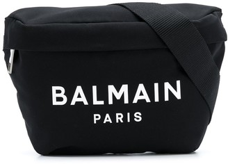 Balmain Logo Print Belt Bag