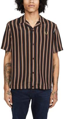 Fred Perry Miles Kane Striped Camp Collar Shirt