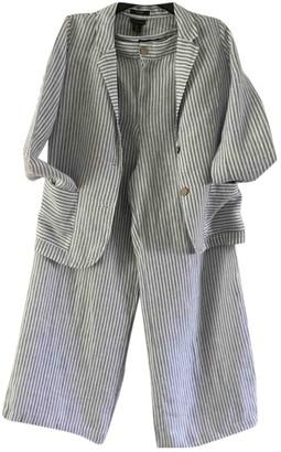 Elie Tahari Blue Linen Jacket for Women
