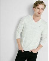 Express space dye v-neck sweater