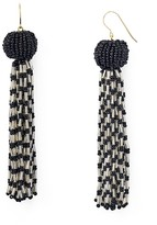 Vanessa Mooney Antoinette Beaded Tassel Drop Earrings
