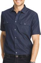 Van Heusen Short-Sleeve Woven Button-Front Shirt