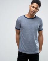 Esprit Crew Neck Slub Ringer T-Shirt