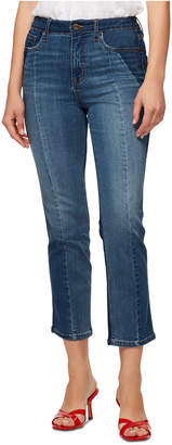 Sanctuary Modern Standard High-Rise Colorblocked Cropped Jeans