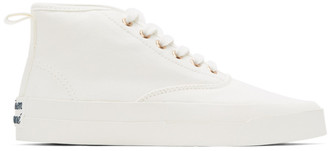 MAISON KITSUNÉ White High-Top Sneakers