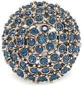 Oscar de la Renta Crystal-embellished dome ring