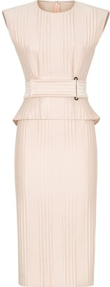 Fendi Quilted Peplum Dress