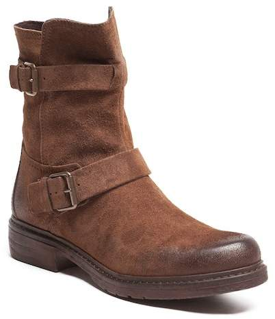 Manas Design Buckle Suede Biker Boot