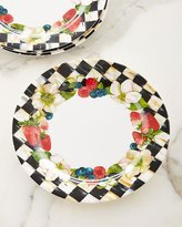 Mackenzie Childs MacKenzie-Childs Berries & Blossoms Melamine Dinner Plates, Set of 4