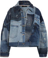 Dolce & Gabbana Distressed Patchwork Denim Jacket - Mid denim