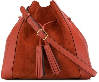 Mulberry Millie suede tassel tote bag