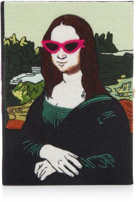 Olympia Le-Tan Mona Lisa Appliqued Canvas Book Clutch