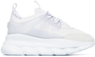 Versace Chain Reaction light mesh sneakers