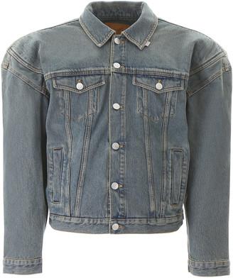 Martine Rose Denim Jacket With Oversized Shoulders