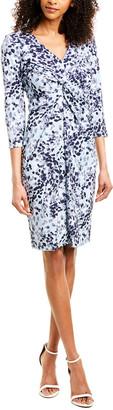 Donna Karan V-Neck Midi Dress