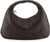 Bottega Veneta Intrecciato Woven Large Hobo Bag, Dark Brown