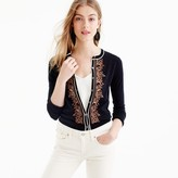 J.Crew Embroidered cotton Jackie cardigan sweater
